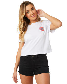 WHITE WOMENS CLOTHING SANTA CRUZ TEES - SC-WTC8663WHT