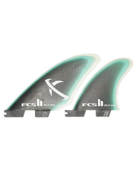 GREEN CLEAR BOARDSPORTS SURF FCS FINS - FMBK-PG01-QS-RGRCLR1