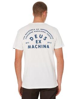 VINTAGE WHITE MENS CLOTHING DEUS EX MACHINA TEES - DMW91104DVNWHT