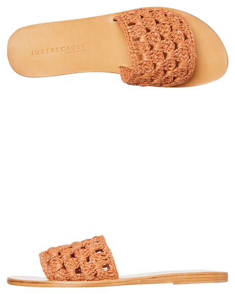 SALMON OUTLET WOMENS JUST BECAUSE SLIDES - SOLE-JB0260SMN