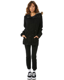 BLACK WOMENS CLOTHING SWELL JACKETS - S8183382BLACK