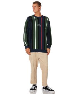 FLIGHT GREEN MENS CLOTHING STUSSY KNITS + CARDIGANS - ST091301FLTGN
