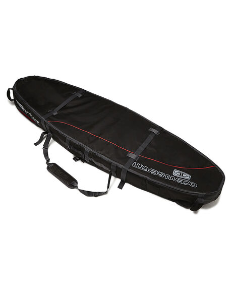 BLACK RED BOARDSPORTS SURF OCEAN AND EARTH BOARDCOVERS - SCSB0666BLKRD