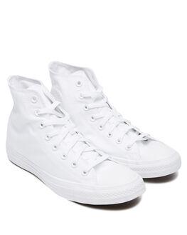 WHITE MONOCHROME WOMENS FOOTWEAR CONVERSE SNEAKERS - SS1U646WHTMW