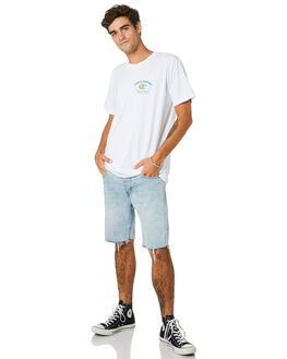 WHITE MENS CLOTHING THE LOBSTER SHANTY TEES - LBSFROTHCTWHT