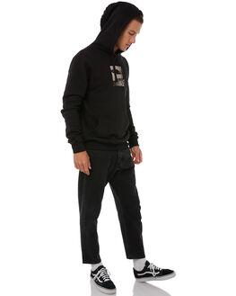 BLACK MENS CLOTHING THRILLS JUMPERS - TA8-219BBLK
