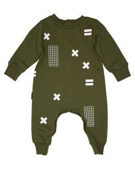DARK GREEN KIDS BABY TINY TRIBE CLOTHING - TTF19-6039ADG