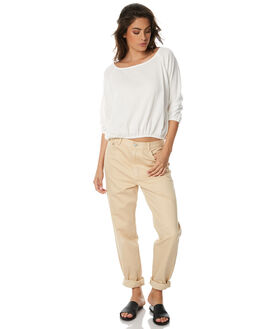 NATURAL WOMENS CLOTHING ZULU AND ZEPHYR JEANS - ZZ1528NAT