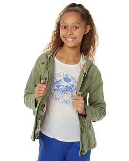 OIL GREEN KIDS GIRLS ROXY JACKETS - ERGJK03035GLD0