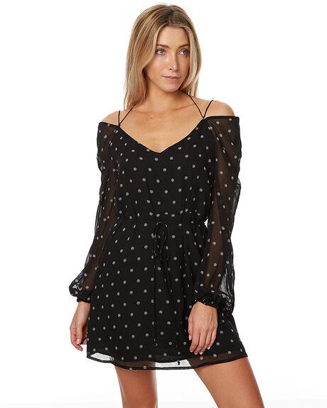 BLACK DAISY PRINT WOMENS CLOTHING THE FIFTH LABEL DRESSES - TX170344D-PRT1BLKDP