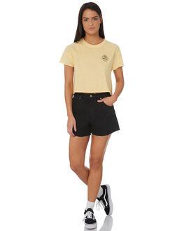 STRAW WOMENS CLOTHING RVCA TEES - R282041STRAW