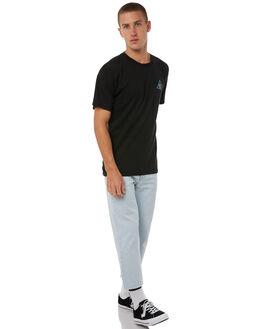 BLACK MENS CLOTHING HUF TEES - TS00187BLK