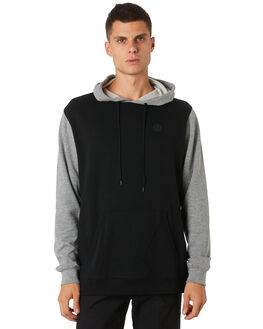GREY MARLE BLACK MENS CLOTHING VOLCOM JUMPERS - A41318V3BLK