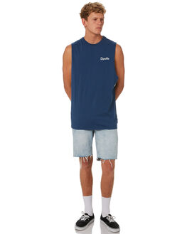 NAVY BLUE MENS CLOTHING DEPACTUS SINGLETS - D5202274NAVY