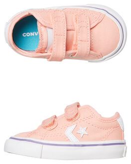 BLEACHED CORAL KIDS GIRLS CONVERSE SNEAKERS - 764440CBCRL