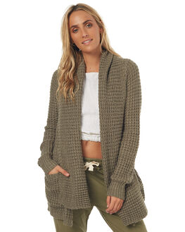 OLIVE WOMENS CLOTHING RIP CURL KNITS + CARDIGANS - GSWXAC0058
