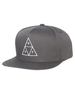 CHARCOAL MENS ACCESSORIES HUF HEADWEAR - HT00344-CHARC