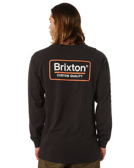 WASHED BLACK MENS CLOTHING BRIXTON TEES - 06864WABLK