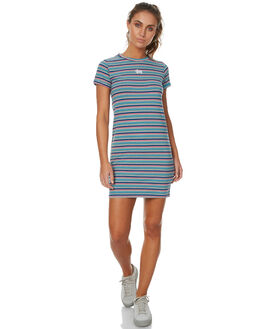 RAINBOW STRIPE WOMENS CLOTHING STUSSY DRESSES - ST171508RAIN