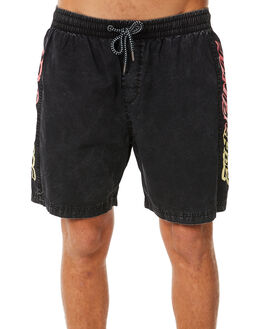 BLACK MENS CLOTHING SANTA CRUZ BOARDSHORTS - SC-MBC8910BLK