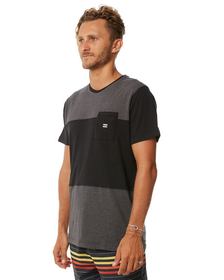BLACK 2 MENS CLOTHING BILLABONG TEES - 9572032BLK