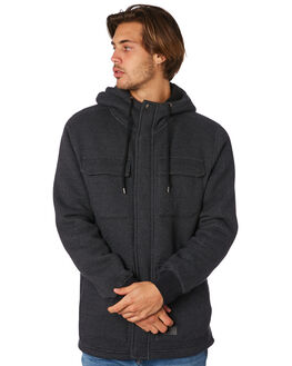 BLACK MENS CLOTHING VOLCOM JACKETS - A5811900BLK