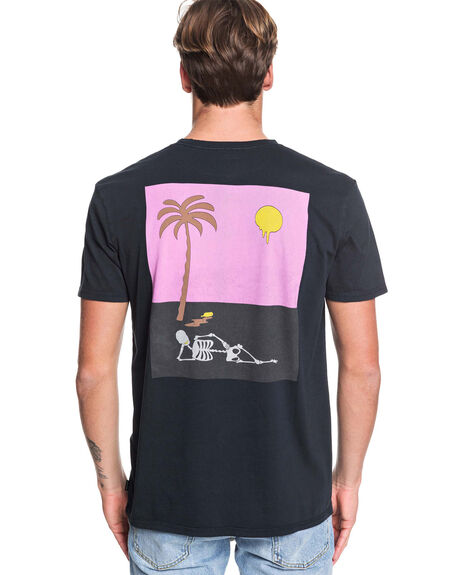 BLACK MENS CLOTHING QUIKSILVER TEES - EQYZT05436-KVJ0