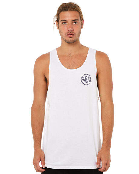 WHITE OUTLET MENS SWELL SINGLETS - S5183274WHITE
