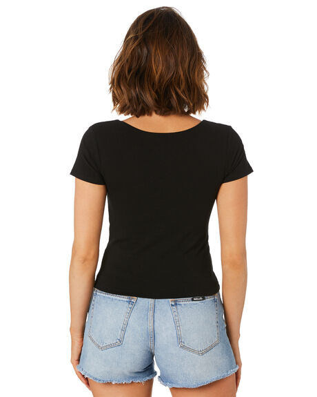 BLACK WOMENS CLOTHING SWELL TEES - S8221007BLK