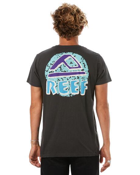 VINTAGE BLACK MENS CLOTHING REEF TEES - TSH706BLK