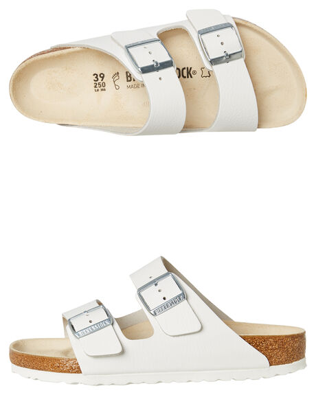 39631f8902 Birkenstock Womens Regular Arizona Smooth Leather Sandal - White ...