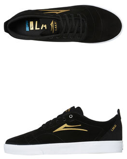 BLACK GOLD MENS FOOTWEAR LAKAI SKATE SHOES - MS1190249A00BLKG