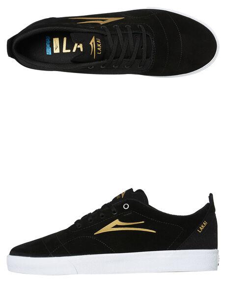 BLACK GOLD MENS FOOTWEAR LAKAI SKATE SHOES - MS1190249A00BLKG