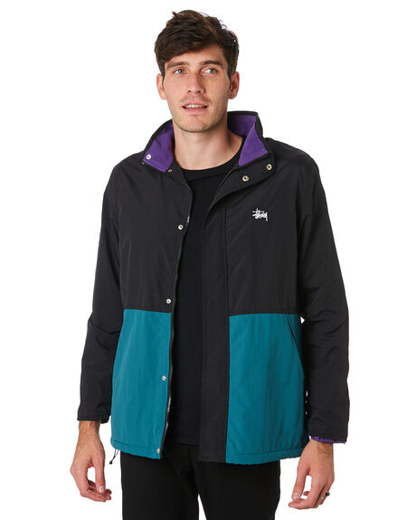 GREEN MENS CLOTHING STUSSY JACKETS - ST091501GRN