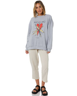 LIGHT GREY MARLE WOMENS CLOTHING MISFIT JUMPERS - MT105306LGMRL