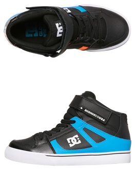 BLACK RED BLUE KIDS BOYS DC SHOES SKATE SHOES - ADBS300325XKRB