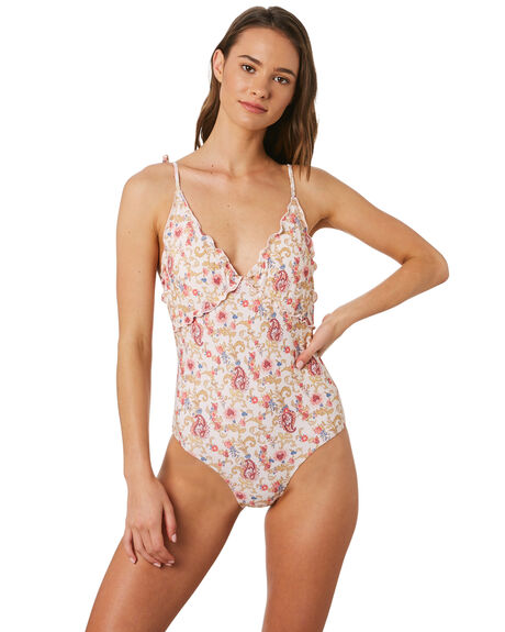 PAISLEY PRINT CREAM OUTLET WOMENS ALL ABOUT EVE ONE PIECES - 6448228PRNT
