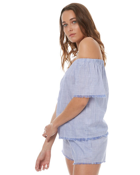 BLUE WOMENS CLOTHING ELWOOD FASHION TOPS - W73308BLUE
