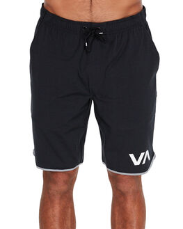 BLACK MENS CLOTHING RVCA SHORTS - R371313BLK