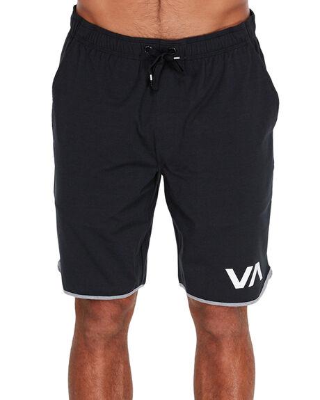 BLACK MENS CLOTHING RVCA SHORTS - R371313BLK