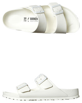 WHITE WOMENS FOOTWEAR BIRKENSTOCK FASHION SANDALS - 129443WHI