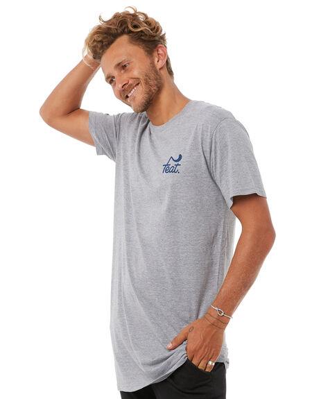 GREY NAVY MENS CLOTHING FEAT TEES - FTTTLOG01GRYN