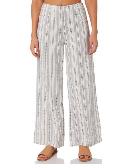 WHITE WOMENS CLOTHING RUSTY PANTS - PAL1196WHT