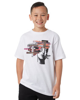 WHITE KIDS BOYS VOLCOM TEES - C3531805WHT