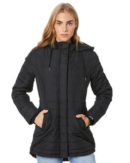 BLACK WOMENS CLOTHING VOLCOM JACKETS - B1512075BLK