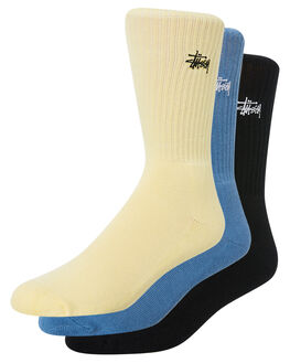 YELLOW BLUE BLACK MENS CLOTHING STUSSY SOCKS + UNDERWEAR - ST783015MULTI