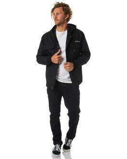 BLACK MENS CLOTHING HURLEY JACKETS - AMJTSRGBLK