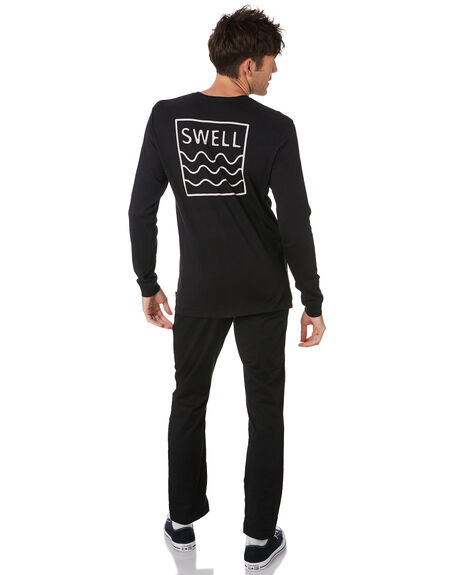 BLACK MENS CLOTHING SWELL TEES - S5201100BLACK