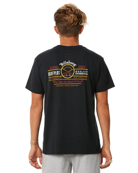 BLACK MENS CLOTHING BILLABONG TEES - 9572001BLK
