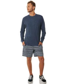 FEDERAL BLUE MENS CLOTHING RVCA TEES - R371091FBLU